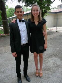 Anne Lise Vernières et Youssef Hebbar, 2 néo-bacheliers du lycée Barral